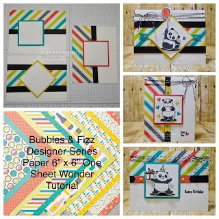 Peanuts and Peppers Papercrafting: Tuesday Tip - Bubbles & Fizz Designer Series Paper One Sheet Wonder Tutorial