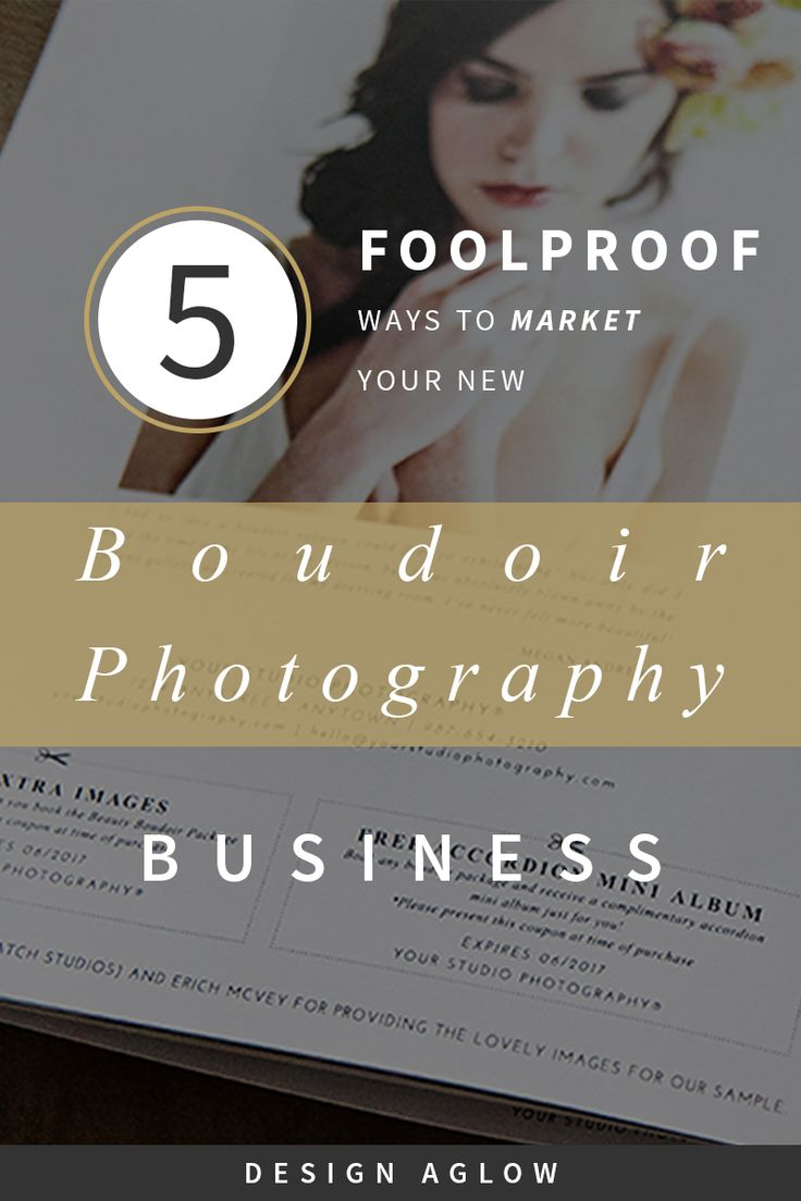 Boudoir photography's intimate nature can make it difficult to market your photography services to the public, especially if you're new to the game and don't know where to start. We don't blame you if you feel a little overwhelmed. But we've got your back: here are five tried-and-true ways to market your boudoir photography business to bring in clients and sales.  photography education, photography marketing, photography welcome packets, photographer education, photographer marketing…