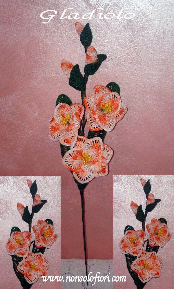 Gladioli all'uncinetto www.nonsolofiori.com
