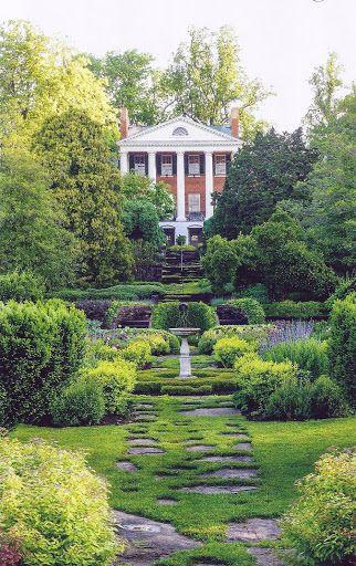 Oak Hill, the splendid home designed by Thomas Jefferson in 1820 for James Monroe, in Aldie, Virginia