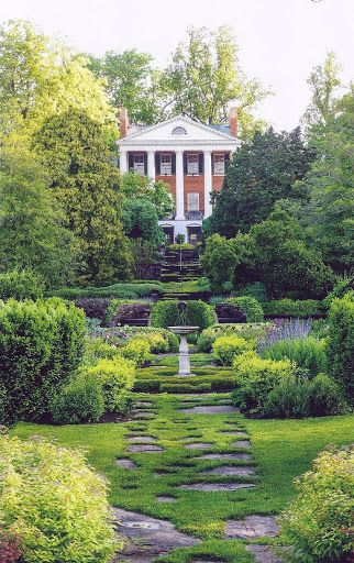 Oak Hill, the splendid home designed by Thomas Jefferson in 1820 for James Monroe, in Aldie, Virginia