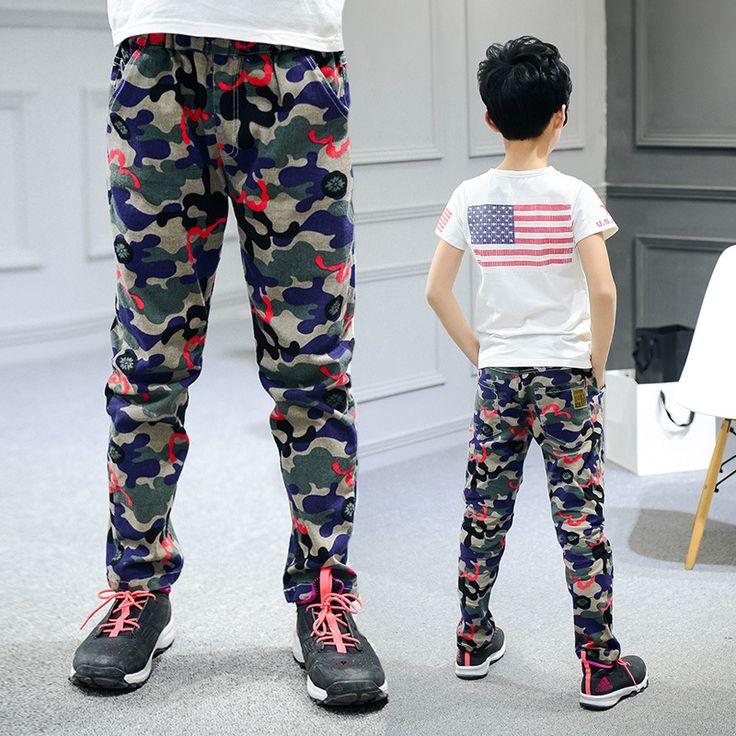 กางเกงแฟชั่นเด้ก พิมพ์ลาย ผ้าฝ้ายใส่สบาย Children Pants For Boys Cotton Casual Children Clothing Fashion Camouflage Sports Pants Boys Spring Kids Clothes For Boys 6-14 Y