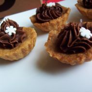 Fotografie receptu: Košíčky s čokoládovým krémem