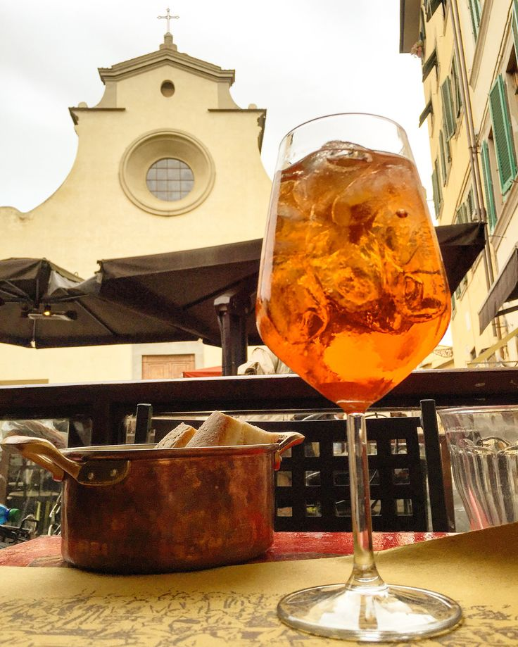Aperol spritz and my fave church in Florence. Doesn't. Get. Better.