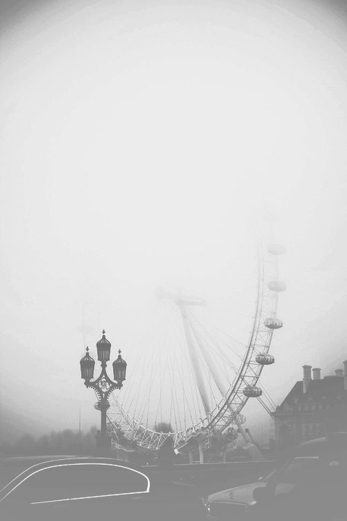 #blackandwhite #artsy #gray #foggy #ferriswheel