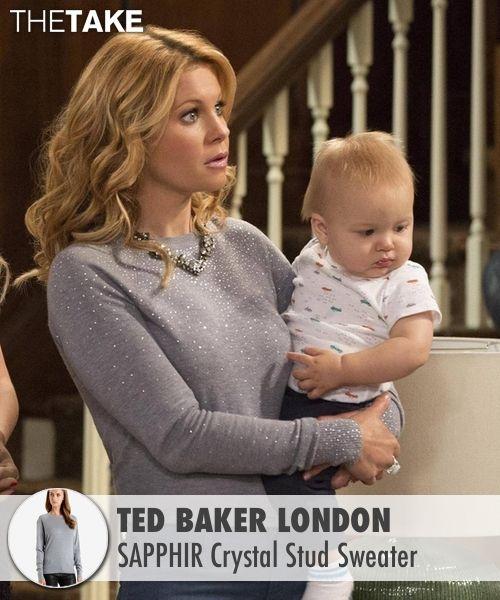Ted Baker London  SAPPHIR Crystal Stud Sweater as seen on D.J. Tanner-Fuller in Fuller House | TheTake