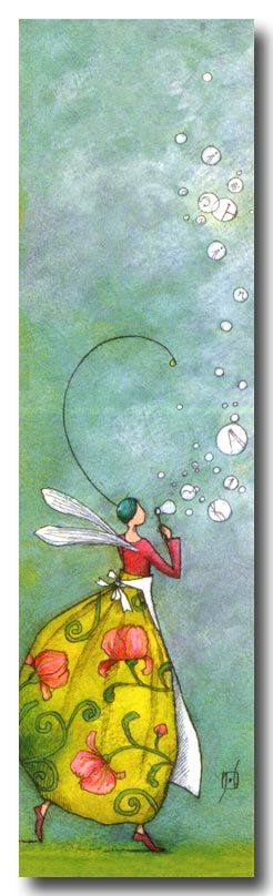 A Fairy BLowing Bubbles. by Gaelle Boissonard