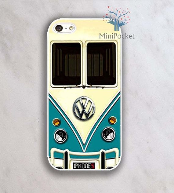 Awesome! my dream car in a phone case?! VW Minibus Teal Iphone Case iPhone 4