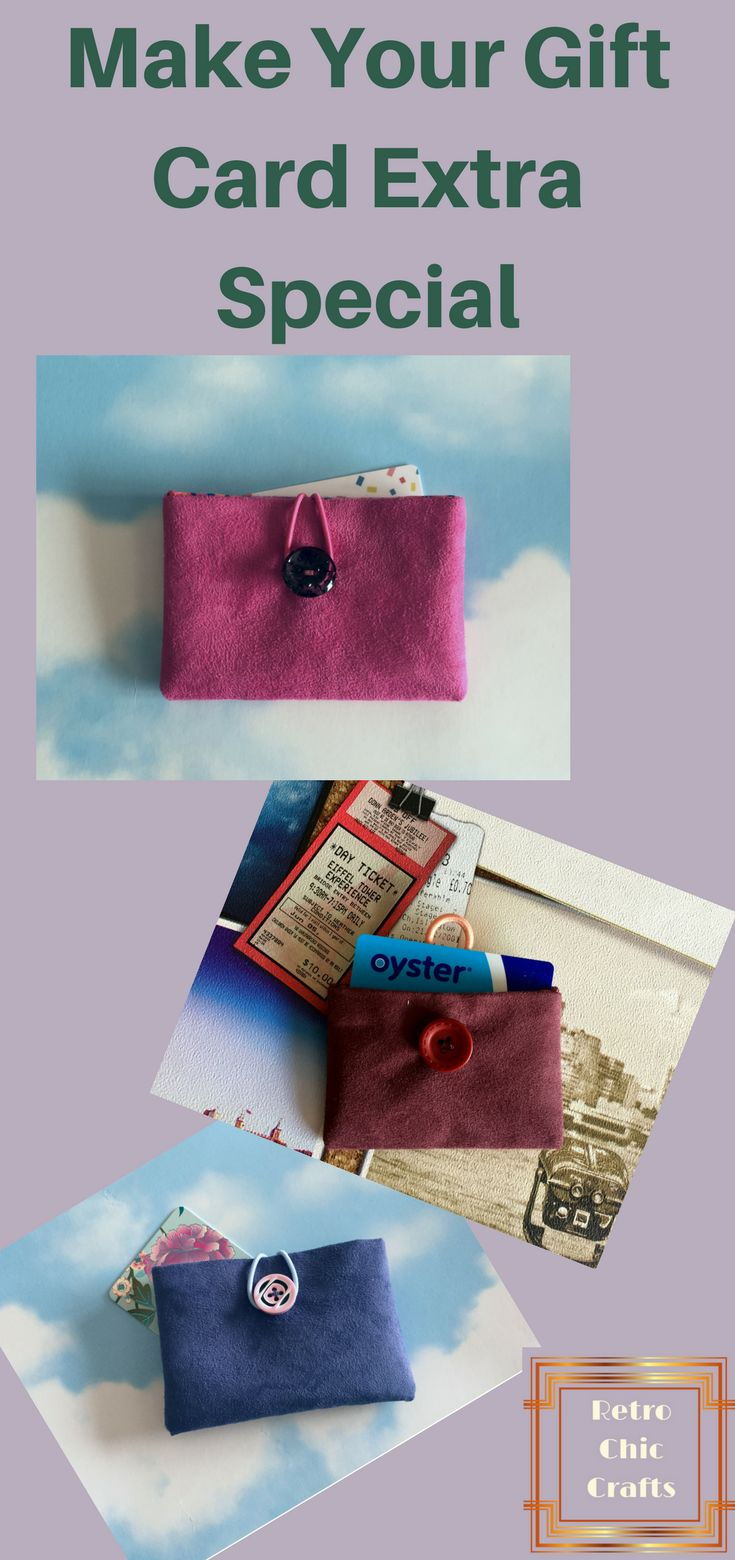 Find a lovely selection of Gift Card Wallets at Retro Chic Crafts. They can be used to keep your travel cards and bank cards in a handy safe place. #travelcardholder #businesscardholder #creditcardholder #purseorganiser #oystercardholder #handmadecardwallet #businesscardcase #creditcardwallet #cardholder #coworkergift #giftcardcase