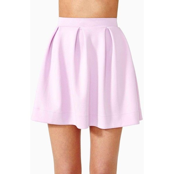 Scuba Skater Skirt ($13) ❤ liked on Polyvore featuring skirts, bottoms, lilac, high waisted flared skirt, pink skirt, pink circle skirt, pleated skater skirt and high-waisted skirts