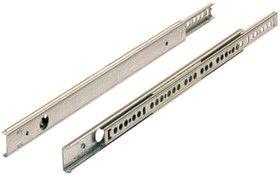 Stahl verzinkt, Kugelauszug, in Stahlkugellaufbahnen geführt, mit Auszuganschlag und Aus¬roll¬sicherung., KA 270/2,KA 270/2