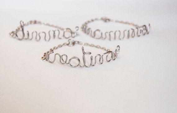 Custom word bracelet handmade bracelets with by SilviaWithLove