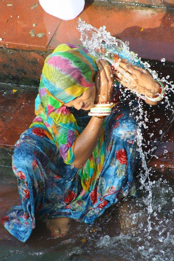 Ganges Devotee, Haridwar, India | Washing away sins in the Ganges River