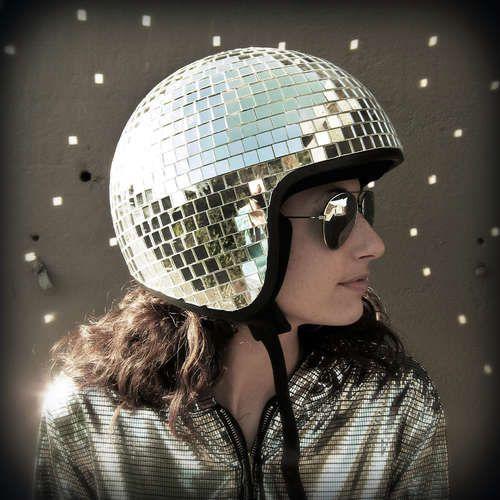 how to make a disco ball helmet.