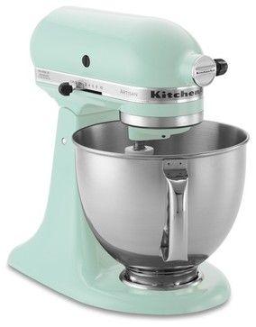 KitchenAid Artisan Stand Mixer, Ice Blue contemporary-mixers