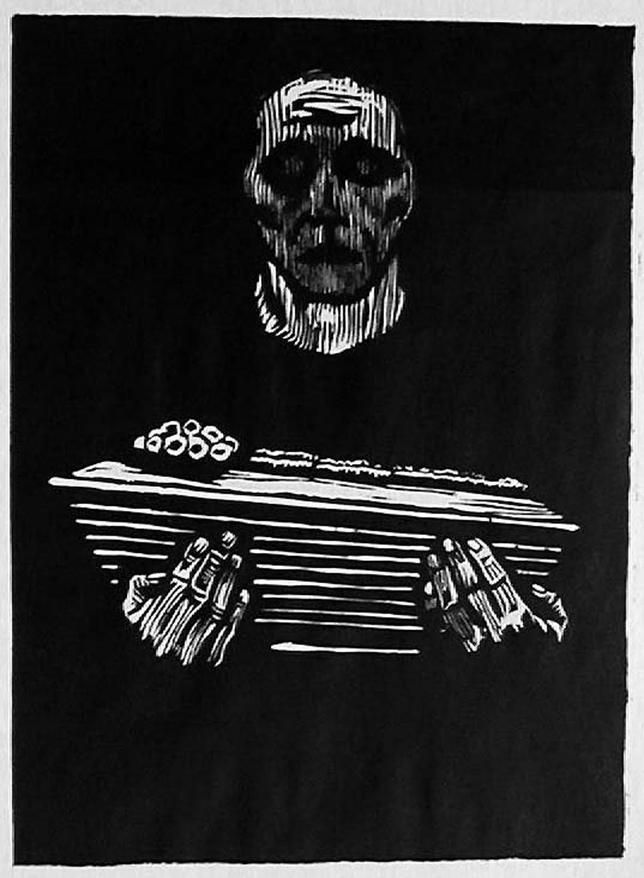 "Käthe Kollwitz: ""Kindersterben/muerte del niño"" Infant_mortality / Serie ""Proletariat"". xilografía, 1925"