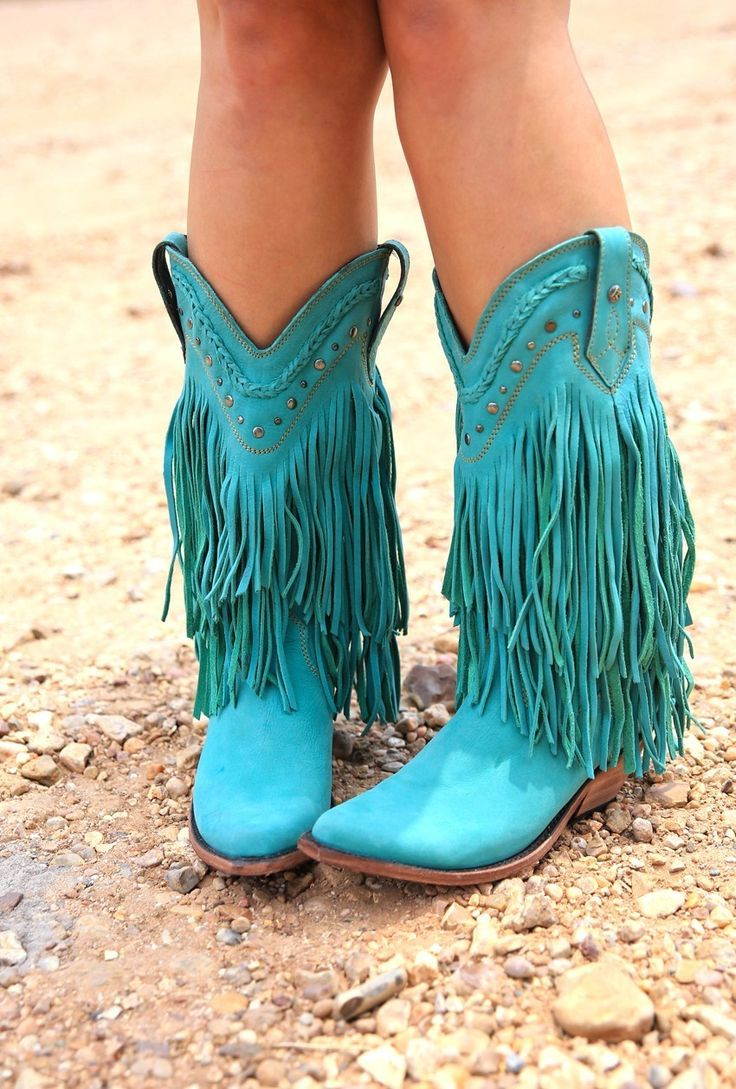 THE RAMBLER BOOTS TURQUOISE - Junk GYpSy co.