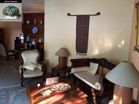 Ruang Tamu Bernuansa Ethnic Vintage