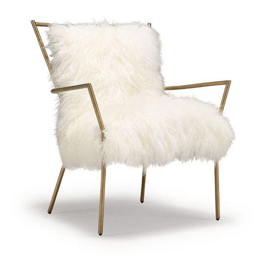 ansel chair brass tibetan fur mitchell gold bob williams chairs