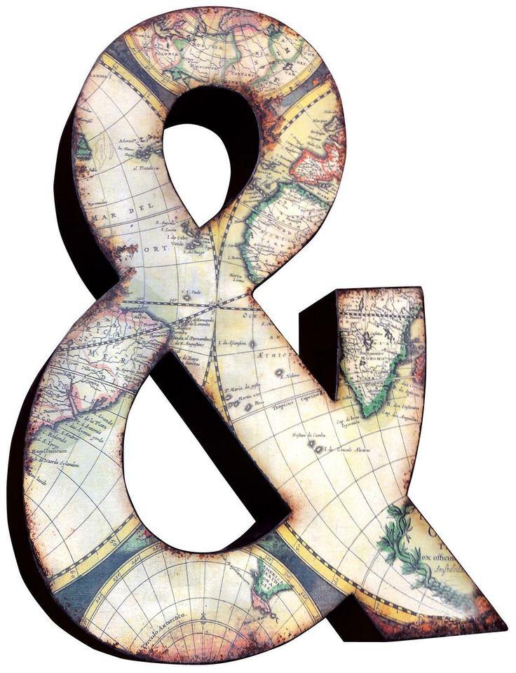 """Ampersand 3D Wall Art Height: 26"""" - 66cm Width: 19.5"""" - 50cm Depth: 3"""" - 8cm"""