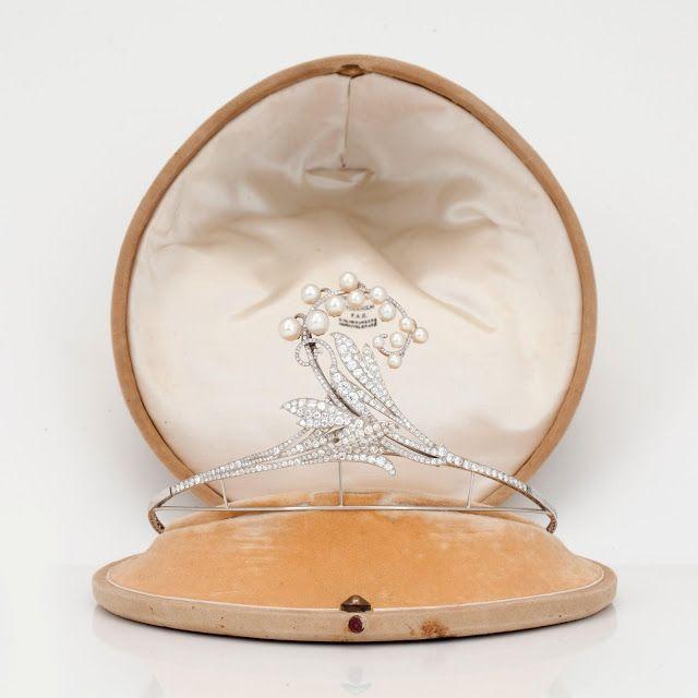 The Royal Order of Sartorial Splendor/Countess Gunnila Bernadotte af Wisborg's Tiara Courtesy of Bukowskis