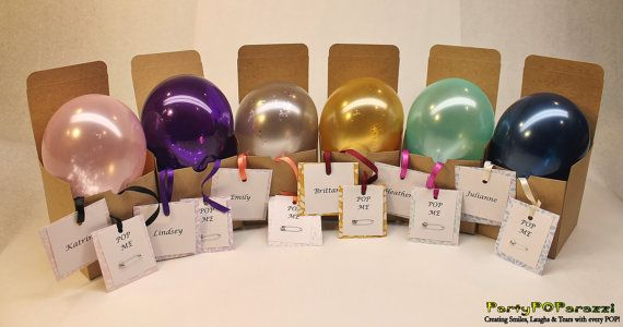Set of 6 Will you be my Bridesmaid personalized message inside balloon in gift box garnished in your wedding color