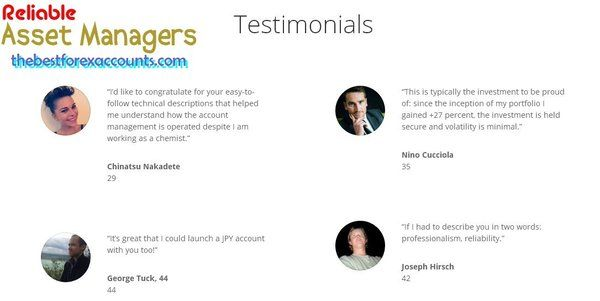 Testimonials about #thebestforexaccounts.com