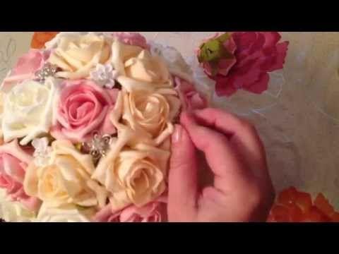 Wedding bouquet - Свадебный букет дублер своими руками - YouTube