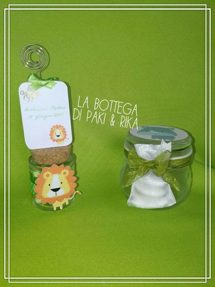 #Bomboniere#vetro#vasetto#miele#honey#green#jungle#giungla#verde#battesimo