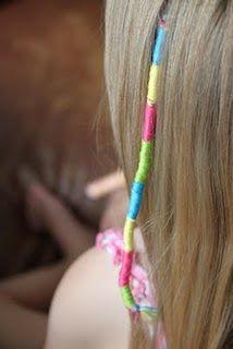 Colorful Hair Wraps: Little Girls, Diy Hair, Colorful Hair, Creative Places, Kara Creative, Hair Accessories, Hair Wraps, Girls Hair, Colors Hair
