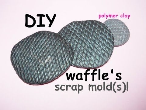 How to make a Waffle's Mold ~ Come fare uno Stampino per Cialde | Polymer Clay Tutorial
