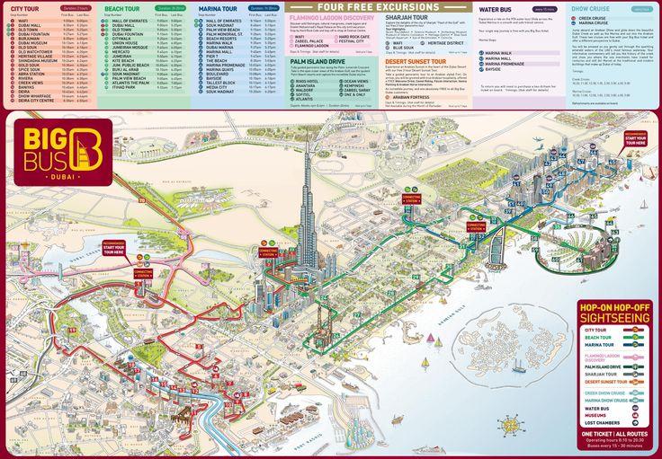Dubai tourist attractions map