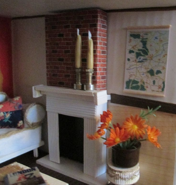 Midsomer cottage - first floor - with map of Midsomer County