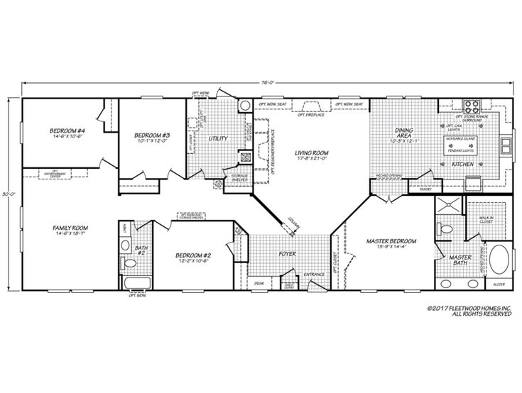 Eagle Trace Ii 32764n Mobile Home Floor Plans Modular Home Plans Modular Home Floor Plans