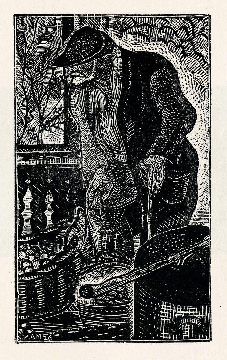 MITROKHIN Dmitry, greengrocer, 1928 г, xylography. 255х195 (99х60).
