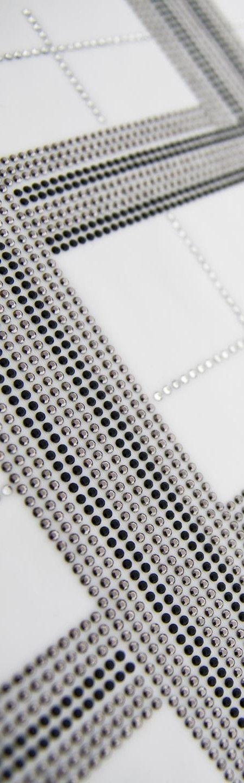 Borchie Termoadesive Standard Sfaccettate Black e Silver