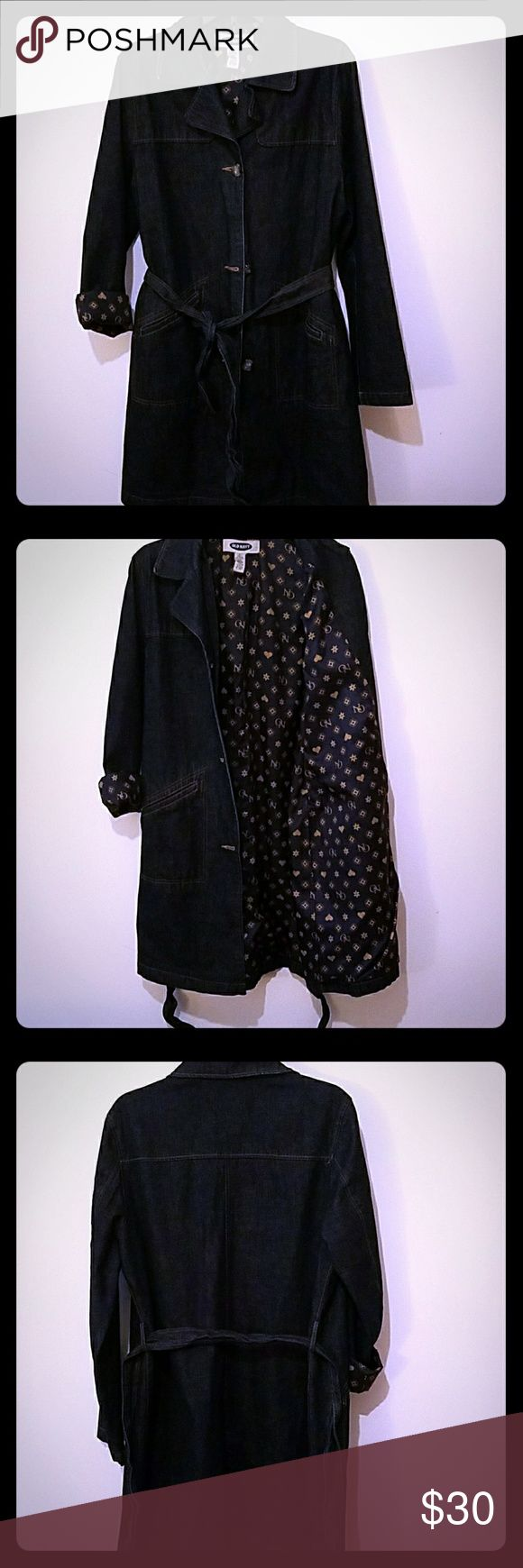 Dress jacket This mean jaket is knee length, waist belt, button up. Old Navy Jackets & Coats Jean Jackets