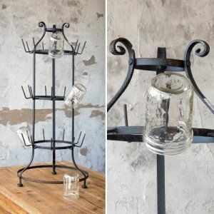 Our vintage inspired standing bottle rack is a unique and quirky way to display your bottles, mugs, and so much more. Use this cup rack or bottle rack in your kitchen or dinning spaces. For more visit Decor Steals