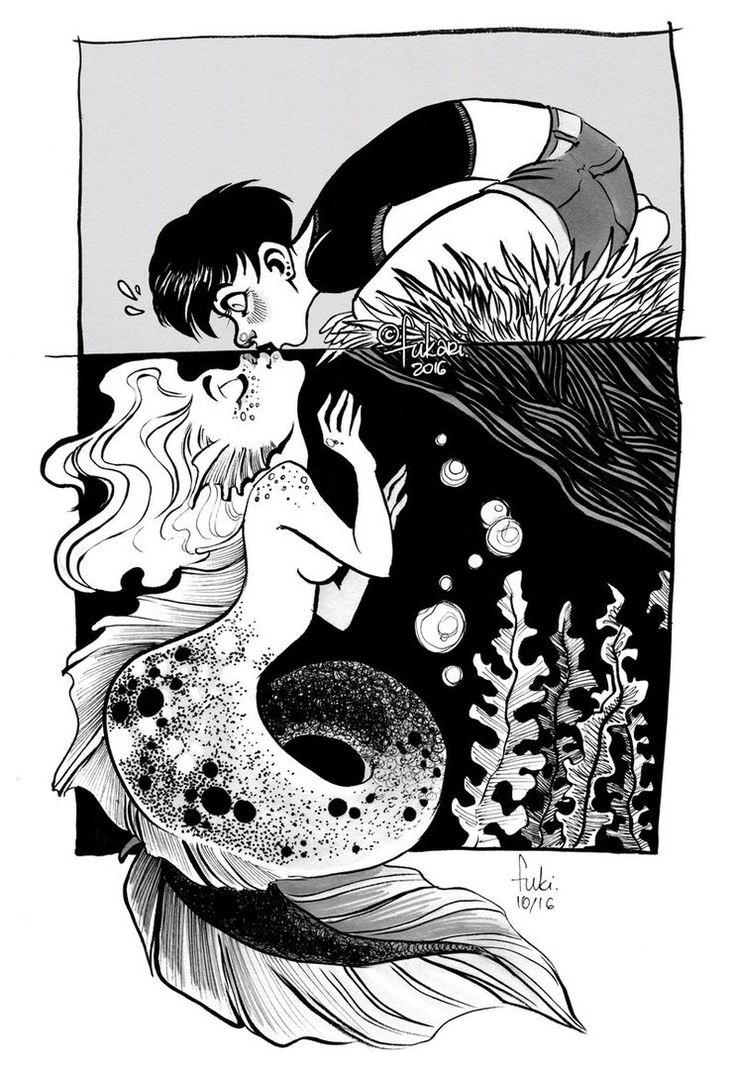 unexpected kiss by Fukari.deviantart.com on @DeviantArt