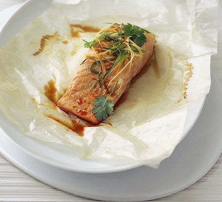 GINGER & CHILI SALMON - salmon / ginger / soy sauce / fish sauce ...