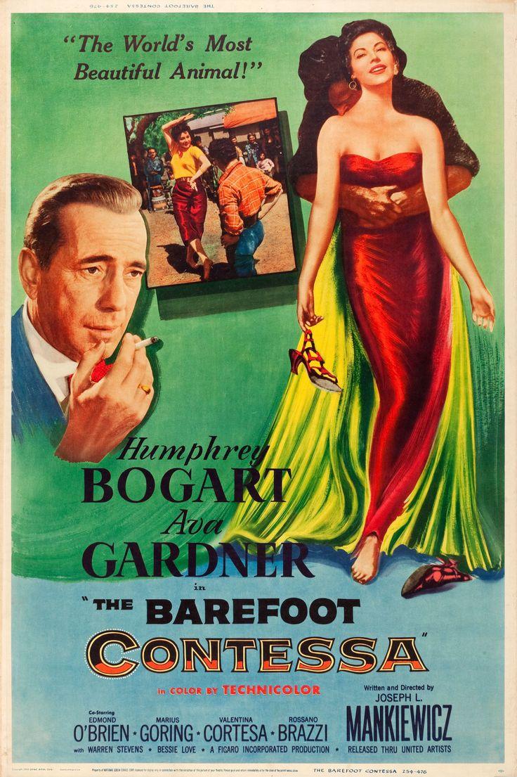 The Barefoot Contessa (1954) Humphrey Bogart  Movie Posters https://www.youtube.com/user/PopcornCinemaShow