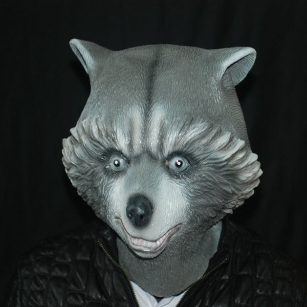 Bear Mask Creepy Animal Halloween Costume Theater Prop Party Cosplay  Deluxe Latex