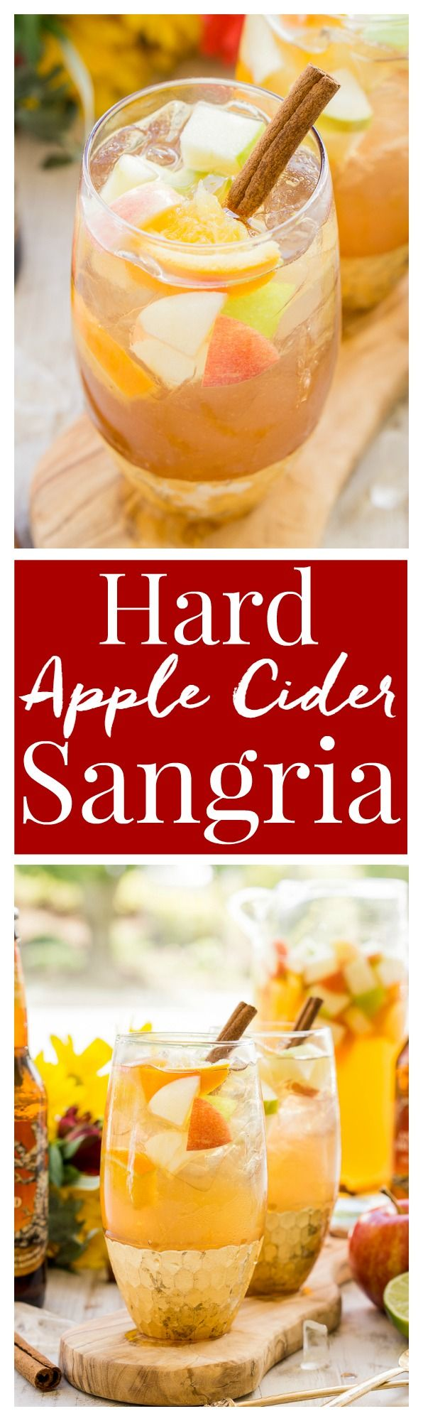 This Hard Apple Cider Sangria brings together the cozy flavors of fall in a…
