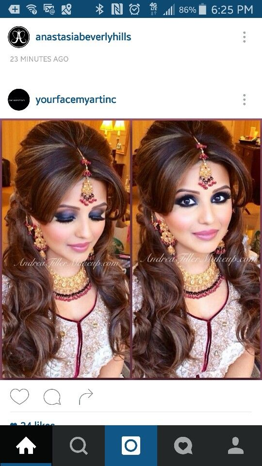 Indian Bridal Makeup- Smokey Eyes