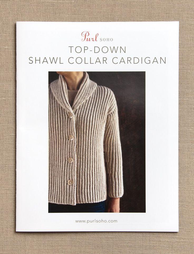 Top-Down Shawl Collar Cardigan Pattern