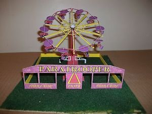 00 scale pdf card kit on hard disc PARATROOPER/model railway/fairground model