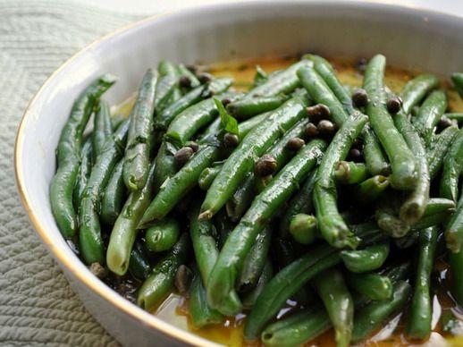 Haricot Verts with Sauce Ravigote (Mustard-Caper Vinaigrette)