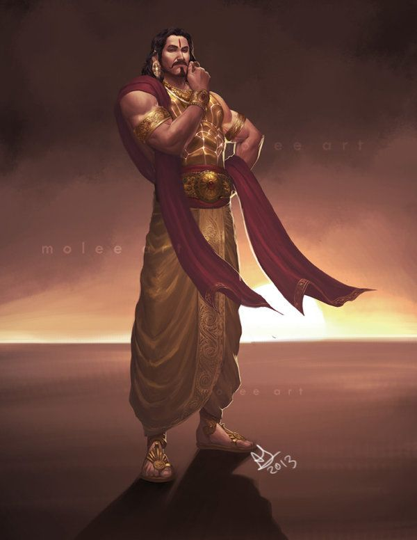 KARNA - SON OF KUNTI -PRAYED FOR SUN GOD-KUNTI TO TEST THE MANTRA OF SUN GOD WAS BLESSED WITH A CHILD, KARNA.