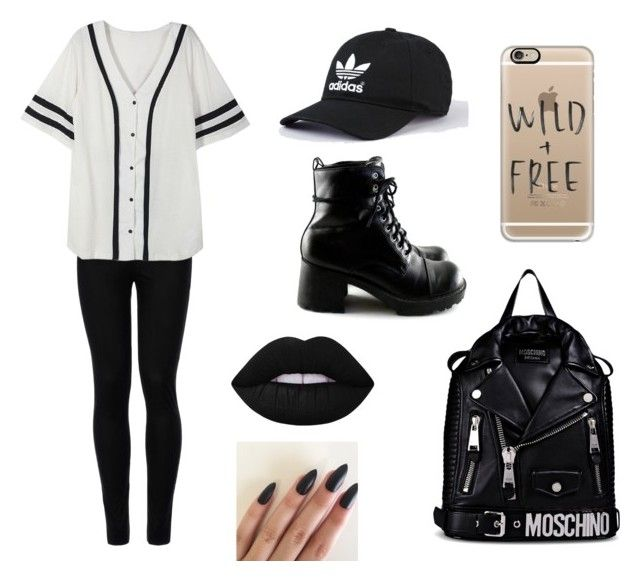 """""""Wild"""" by martyna-janas on Polyvore featuring moda, Wolford, Moschino, Casetify i Lime Crime"""