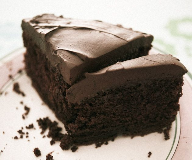 David Herbert's Chocolate fudge cake from his book Best-ever Baking Recipes. Photograph © Nato Welton.